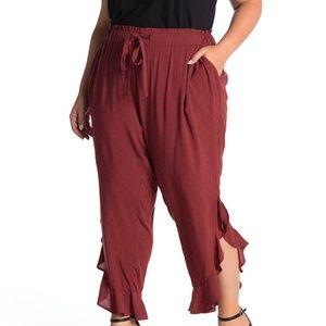 Nordstrom plus size ruffle trim pants (3X)